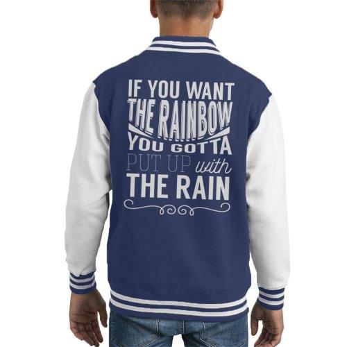 Dolly Parton Rainbow Quote Kid's Varsity Jacket