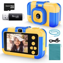 Uverbon Kids Digital Camera 1080P FHD Video 24MP Rechargable Toy Cameras Children Camcorder for Girls Boys 3-8 Years Old Birthday Christmas