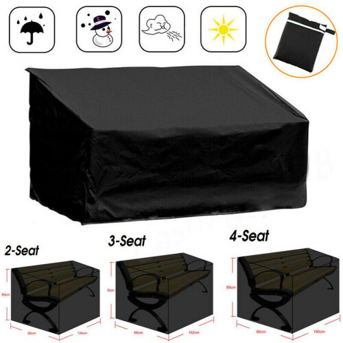 (134x66x89cm(2 Seats)) HEAVY DUTY WATERPROOF GARDEN OUTDOOR 2 3 4 SEATER BENCH SEAT COVER ALL SIZES