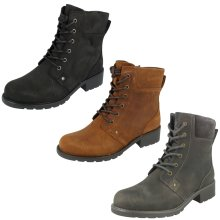 Ladies Clarks Ankle Boots Orinoco Spice - D Fit