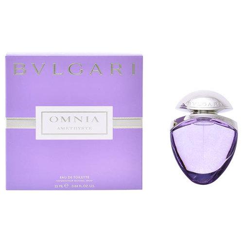 Women's Perfume Omnia Amethyste Bvlgari EDT satin pouch