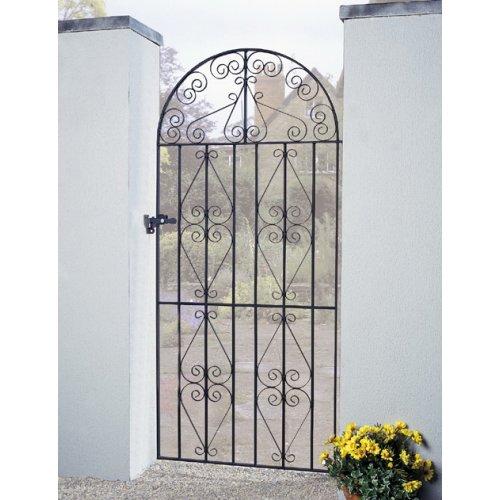 Stirling Scroll Tall Garden Gate galvanised metal