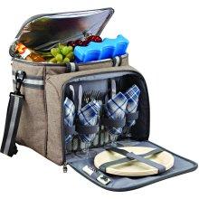 GEEZY Family Picnic Cool Bag Backpack Hamper Wine Cooler Bottle Holder Carrier