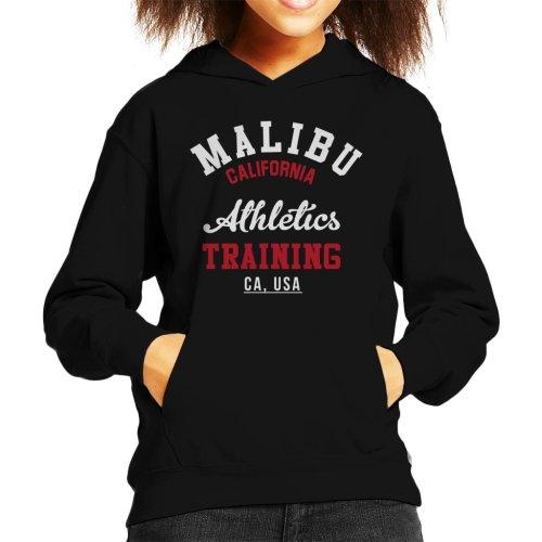 (Medium (7-8 yrs), Black) Malibu Athletics Training Kid's Hooded Sweatshirt
