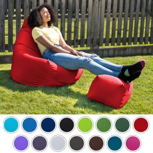 Bean Bag Gamer Chair Seat Water Resistant Lounger