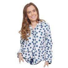 Cyberjammies 3842 Women's Zoe White Spotted Pajama Pyjama Top