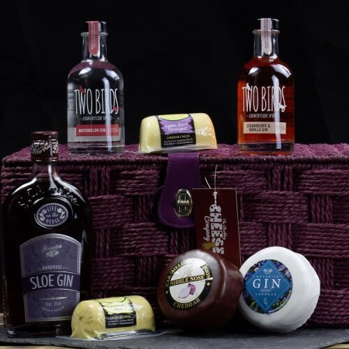 Three Gin and Four Cheese Gift Hamper