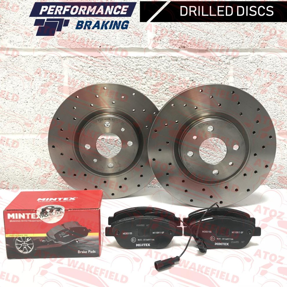 2008- FIAT 500 1.2 8V FRONT BRAKE DISCS AND PREMIUM MINTEX BRAKE PADS FULL SET