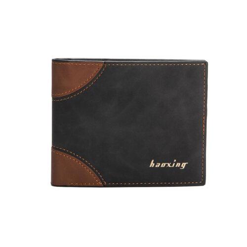 Men's PU Leather Bifold Wallet-Black