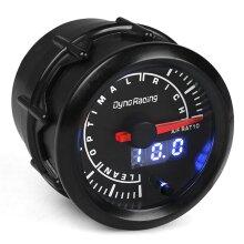 """2"""" 52mm Digital Pointer 7 Color LED Narrowband Car Air Fuel Ratio Gauge Meter for 4/6/8 Cylinder Engine 12V Gasoline Cars Vehicles"""