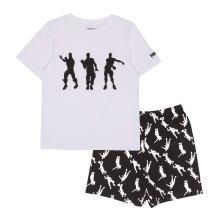 Official Kids Fortnite Short Pyjamas Set - Dancing Emotes - Boys Girls