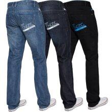 Enzo Mens Straight Jeans Regular Leg Designer Work Denim Pants All Waists Sizes