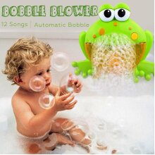 12 Songs Frog Automatic Bubble Maker Blower Bath Toy