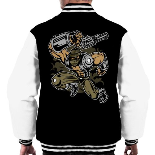 Cartoon Robber Men's Varsity Jacket