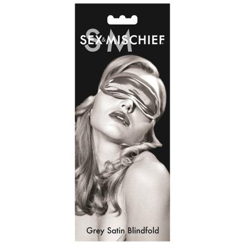 S&M Satin Blindfold - Grey