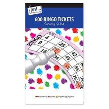 JMSÂ Bingo Book Jumbo Pad 600 Tickets - Big, bold, easy to read numbers