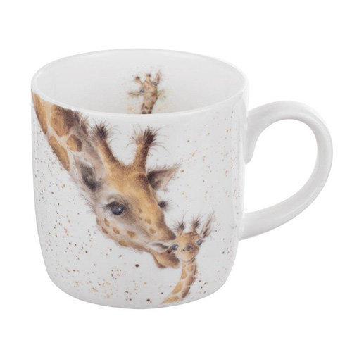 Wrendale by Royal Worcester Mug First Kiss Giraffe, Multi-Colour