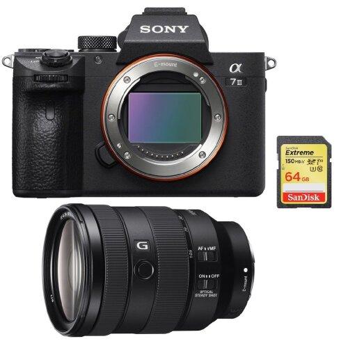 SONY A7 III + SEL 24-105MM F4 G OSS + 64GB SD card