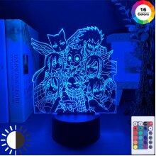 Manga Fairy Tail Group Night Light LED Touch Sensor light