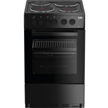 Beko AS530K 50cm Electric Cooker with Solid Plate Hob - Black