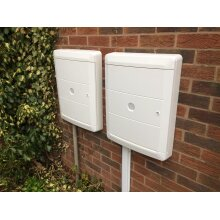 Pair Of Meter Box Covers - Black or White
