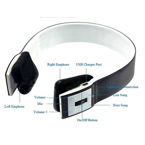 Bluetooth Headset 4.0 Wireless Stereo Headphones With Call /Microphone