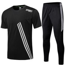 Sport Jogging Zip Running Pants Men Soccer Fitness Workout Gym Running Suit Men Set