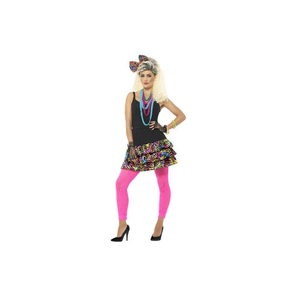 Leggings Dancer Ladies Fancy Dress Neon Womens Costume 1980s Party Girl Kit