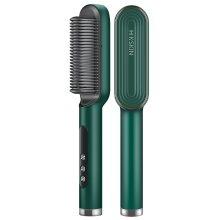 2 in 1 Ceramic Ionic Hair Straightening Comb Curling Brush Quick Heat