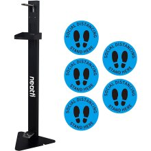 Neatfi Foot Operated Dispenser Station w/ 5 Social Distancing Stickers
