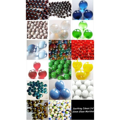 50 Glass Marbles 16mm