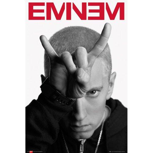 "Poster - Studio B - Eminem - Horns 36x24"" Wall Art P1752"