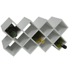 CROSS - 14 Bottle Free Standing Wine Storage Rack - White