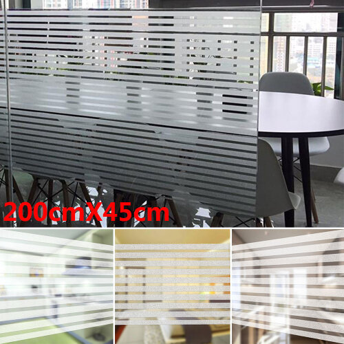 Frosted Privacy Glass Window Film Sticker Bathroom Home Decor 2M*45CM