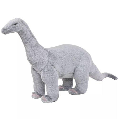 vidaXL Standing Plush Toy Brachiosaurus Dinosaur Grey XXL Kid Stuffed Animal