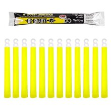Be Ready - Industrial Grade 12 Hour Illumination Emergency Safety Chemical Light Glow Sticks (12 Pack Yellow)