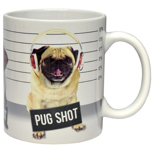 Fizz Creations Mug Pug Shot, White