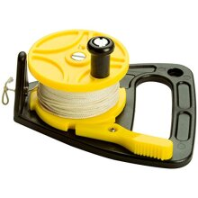 Scuba Max 150 foot Dive Reel Yellow with thumb stopper