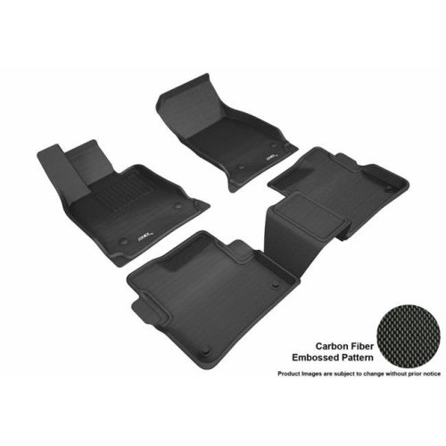 3D MAXpider L1CD01701509 Kagu R1 R2 Floor Mat for 2016-2018 Cadillac CT6, Black