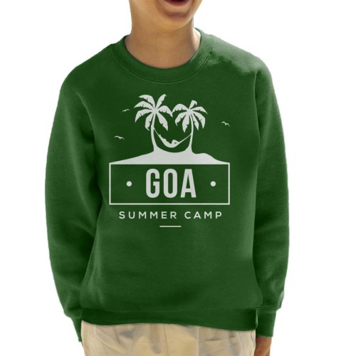 (X-Large (12-13 yrs), Bottle Green) Goa Summer Camp Kid's Sweatshirt