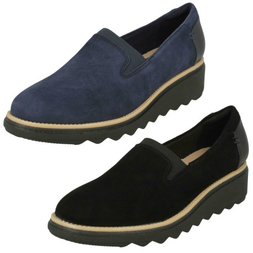 Ladies Clarks Slip On Smart Shoes Sharon Dolly - D Fit