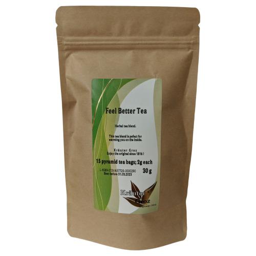 Feel Better Tea (15 teabags) | Cold, Flu, Cough | Immune System Boost