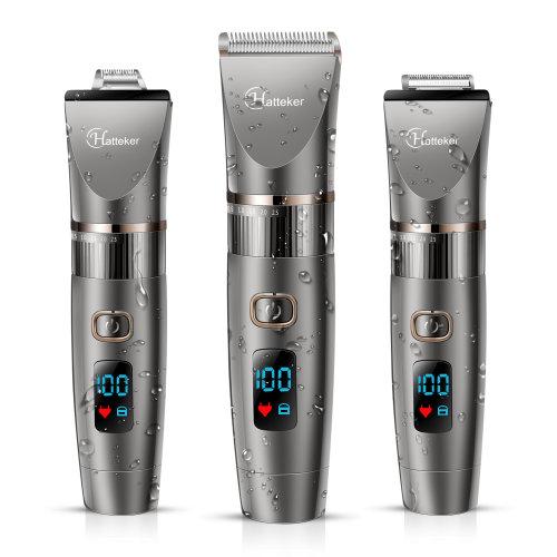 Hatteker Professional Hair Clipper Cordless Clippers Hair Trimmer Beard Trimmer Shaver Detail Trimmer Hair Cutting Kit for Men Waterproof