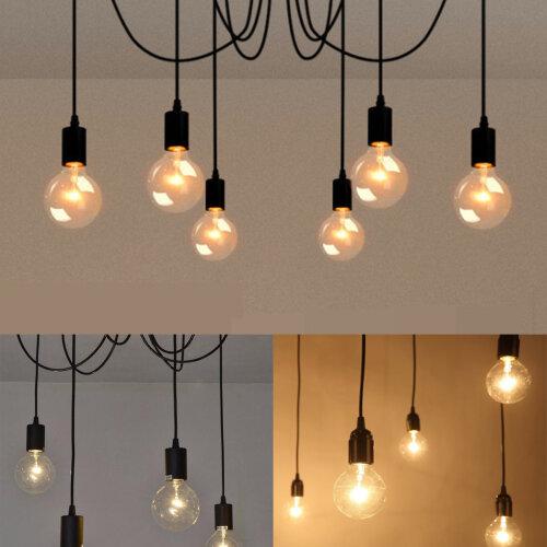 Vintage Retro Ceiling Lights Pendant Light Chandelier Spider Lamp E27