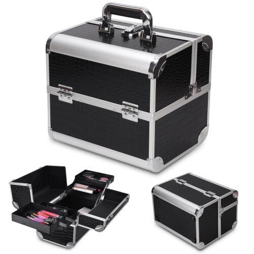 Nail Jewelry Cosmetic Vanity Beauty Box Extra Storage Make Up Case