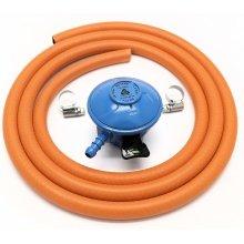 Cavagna 20Mm 28Mbar Butane Gas Regulator & 2 M Hose & 2 Hose Clips 5 Y Warranty