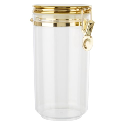 Premier housewares Gozo Large Canister with Gold Finish Lid