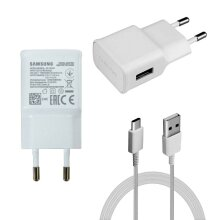 Samsung 2 Pin EU 2 Amp Adaptive Fast Mains Charger USB-C Data Cable In White