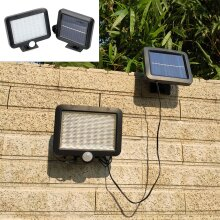 56 LED Solar Floodlight Lamp Outdoor Garden Light PIR Outdoor Sensor