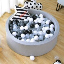 Kids Soft Ball Pit Pool Round Foam Ball Pool w/ 200 Balls for Baby Toddler